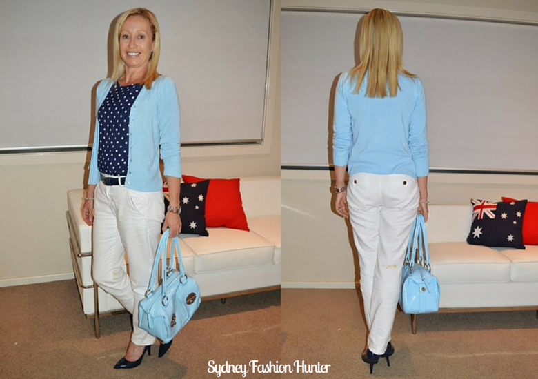 Sydney Fashion Hunter: The Wednesday Panst #15 - Blue Polks Dots