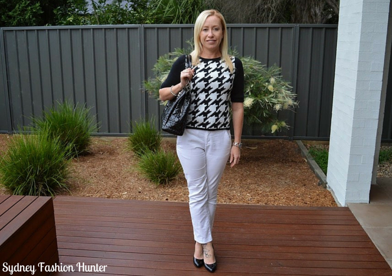 Sydney Fashion Hunter: The Wednesday Pants #21 - Houndstooth Sweater
