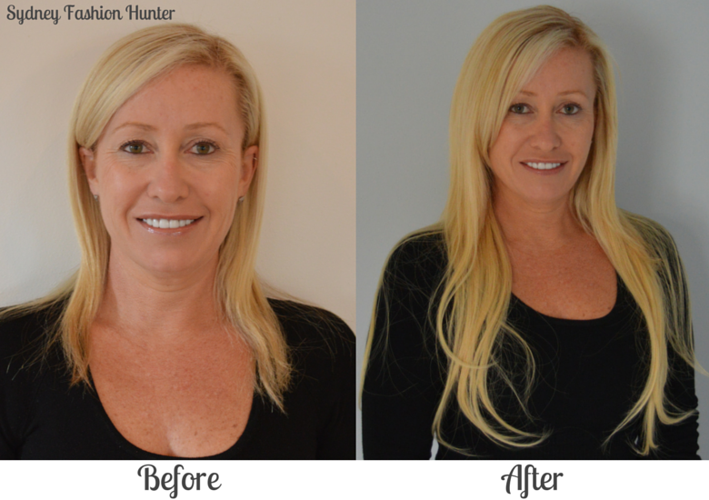 Sydney Fashion Hunter Before and After Irrisistable Me Hair Extensions