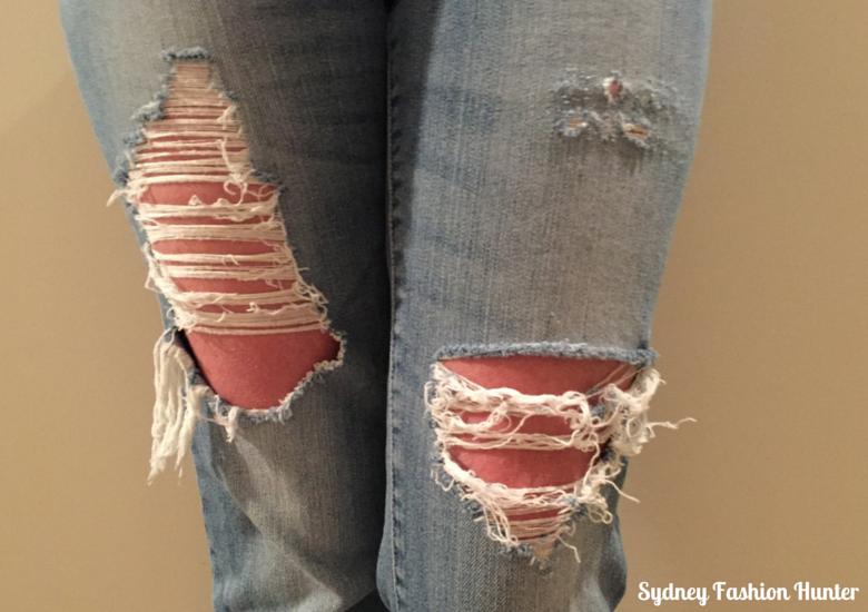 DIY Destroyed Denim Jeans