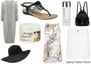 Sydney Fashion Hunter January Purchases Forever New Longline Cardigan, Forcast Floral Halter