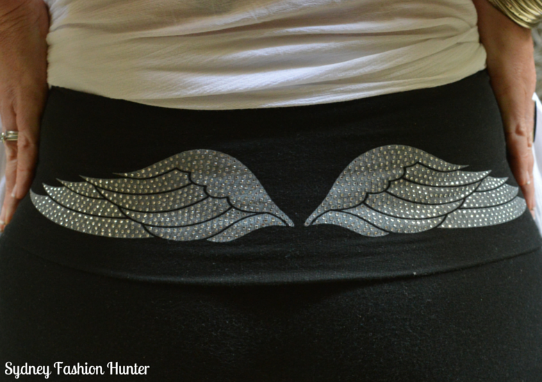 Balck Victoria's Secret Yoga Pants iIth Angel Wings