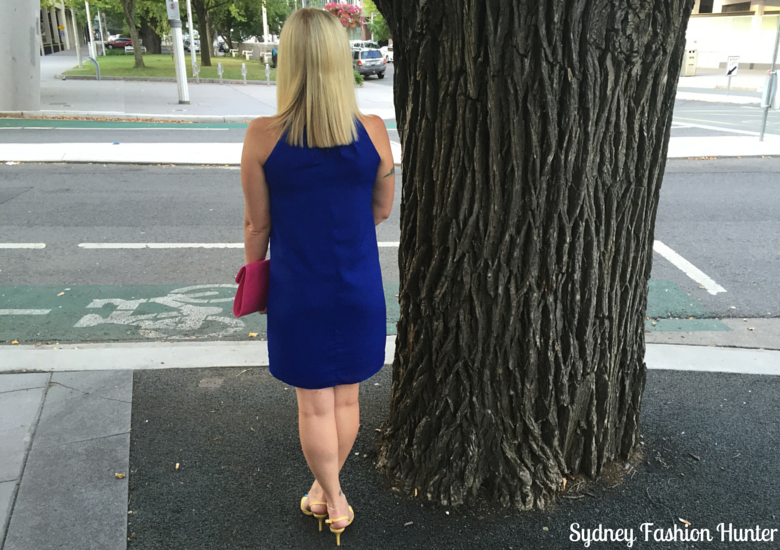 Sydney Fashion Hunter: Fresh Fashion Forum #25 - Electric Blue Dress (Back)