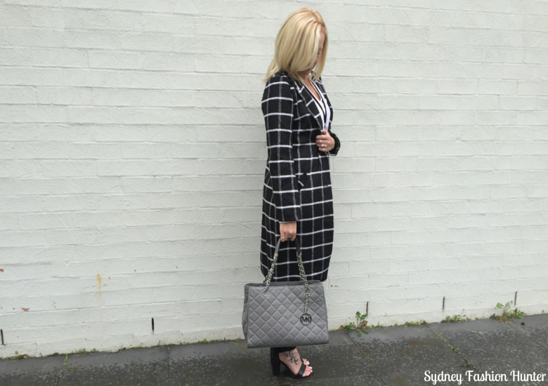 Sydney Fashion Hunter: Fresh Fashion Forum 32 Black & White Check Coat Outfit - Title