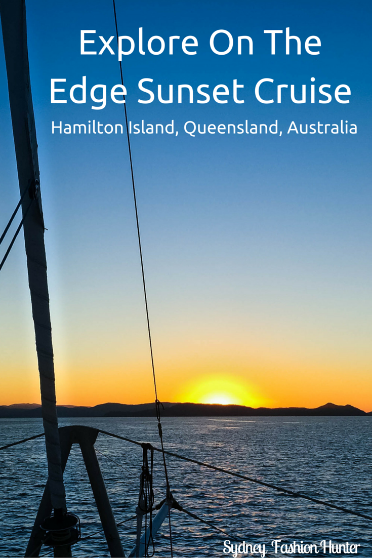 A sunset cruise is a must when in Queensland's Hamilton Island. Try On The Edge. It was brillliant. Read more here http://bit.ly/SFH-Cruise