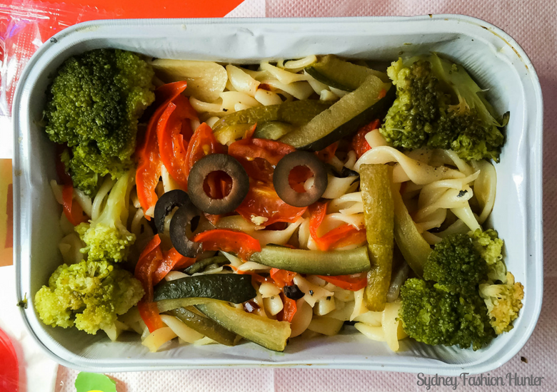 Sydney Fashion Hunter: Air Asia X Business Class Review - Vegetable Pasta