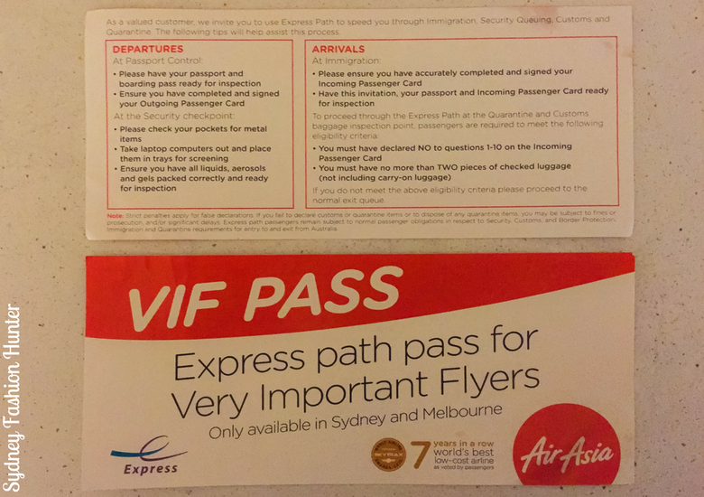 Sydney Fashion Hunter: Air Asia X Business Class Review - VIF Pass