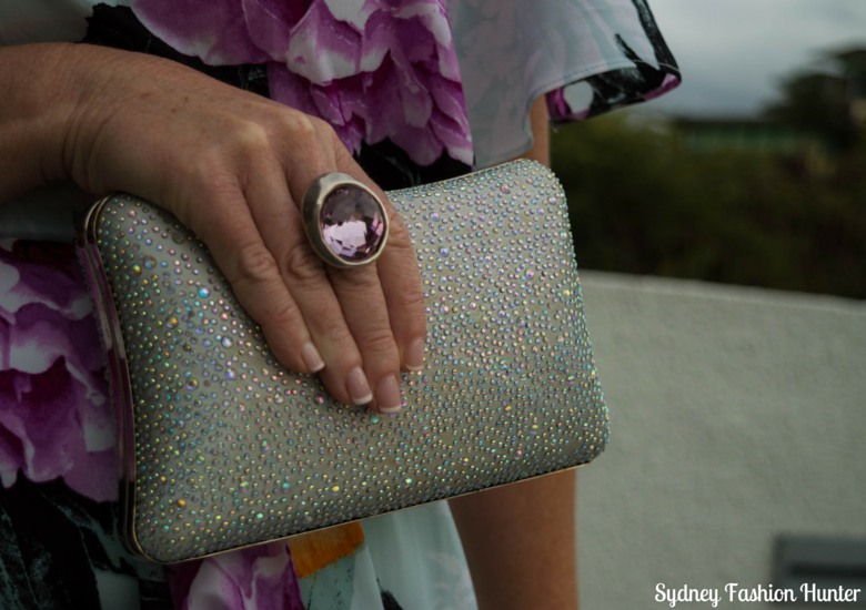 Sydney Fashion Hunter: Fresh Fashion Forum 38 - One Shoulder Floral Dress - Bag & Ring
