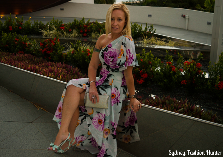 Sydney Fashion Hunter: Fresh Fashion Forum 38 - One Shoulder Floral Dress - Sitting