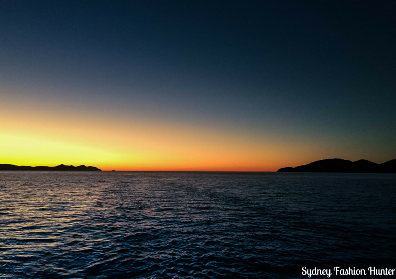 Sydney Fashion Hunter: Explore On The Edge Sunset Cruise Hamilton Island - Sunset back