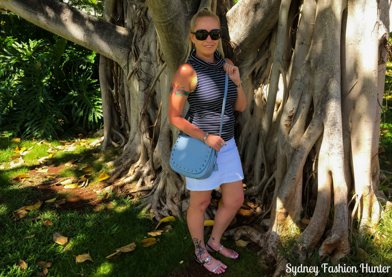 Sydney Fashion Hunter: Fresh Fashion Forum 45 - Navy Striped Cutout Top