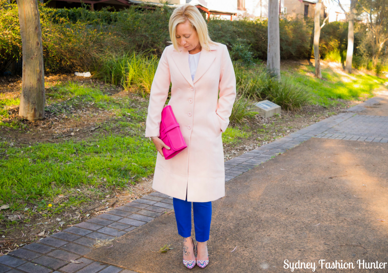 Sydney Fashion Hunter: Fresh Fashion Forum #46 - Pink Waterfall Coat - Front