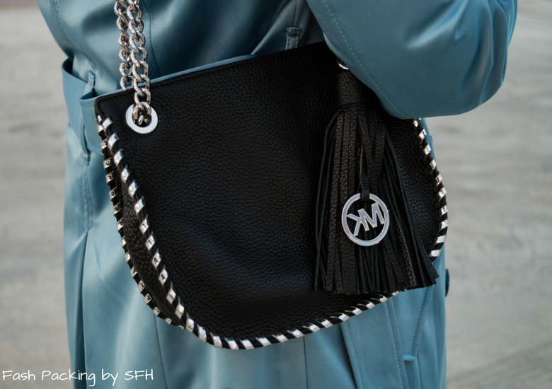 Fash Packing by Sydney Fashion Hunter: Black, White & Blue: Fresh Fashion Linkup 52 - Michael Kors Bag