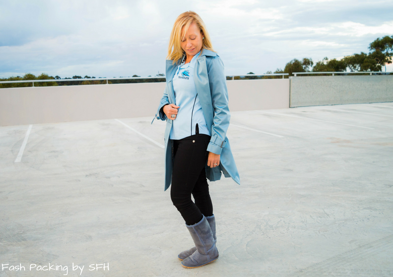 Fash Packing by Sydney Fashion Hunter: Black, White & Blue: Fresh Fashion Linkup 52 - Side