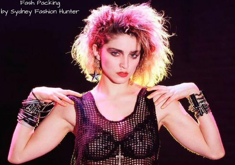 Fash Packing by Sydney Fashion Hunter: Fresh Fashion Forum #50 Grey Mesh Crop Top - 1980's Black Mesh Top