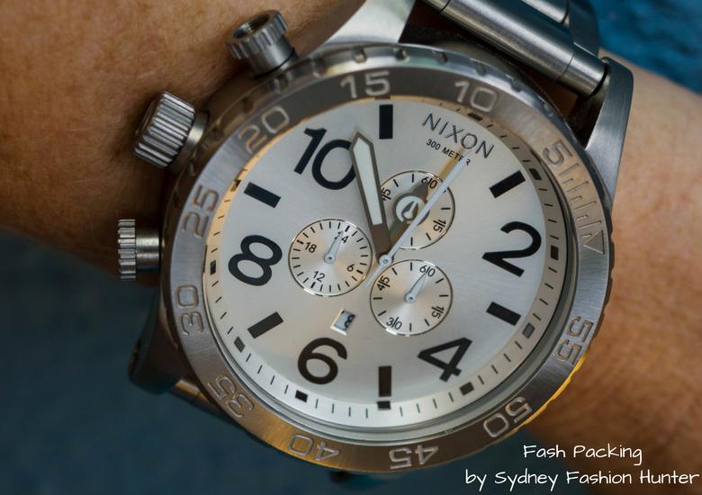 Fash Packing by Sydney Fashion Hunter: Grey Mesh Crop Top - Mens Nixon Chrome Watch