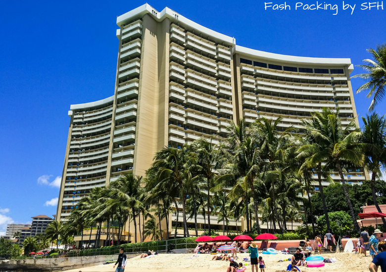 Fash Packing by Sydney Fashion Hunter: Sheraton Waikiki Review - Exterior From Beach
