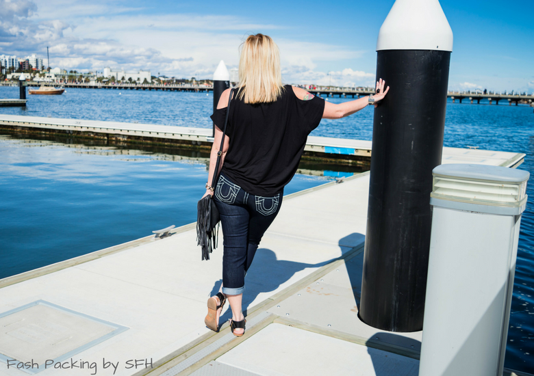 Fash Packing by Sydney Fashion Hunter: Bondi Lifestyle in St Kilda FFF54 - Back