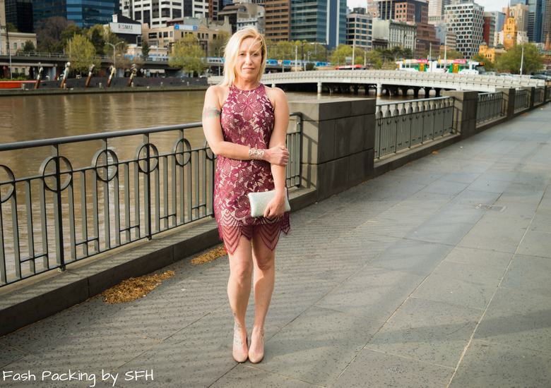 Fash Packing by Sydney Fashion Hunter: Fresh Fashion Forum 53 - Ruby Lace Dress - Front