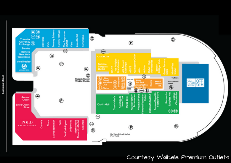 Fash Packing by Sydney Fashion Hunter: Waikele Premium Outlets - Store Map