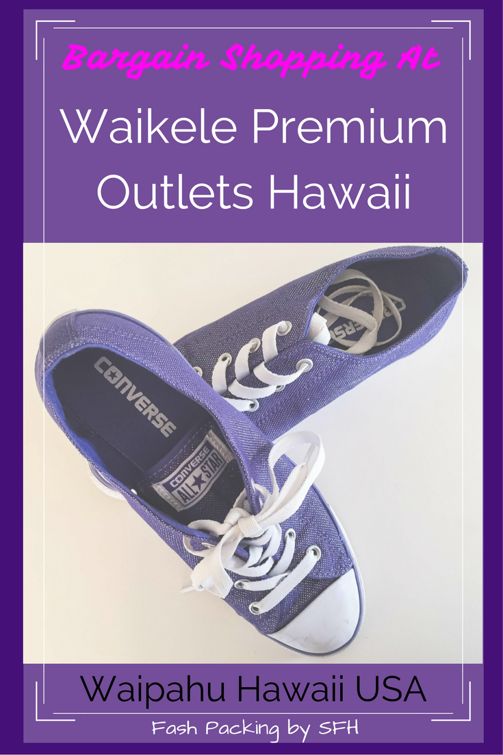 Finding a bargain in Hawaii is not as easy as it used to be but savvy shoppers can still fill their suitcase on the cheap at Waikele Premium Outlets. All my picks and tips here http://bit.ly/sfh-waikele