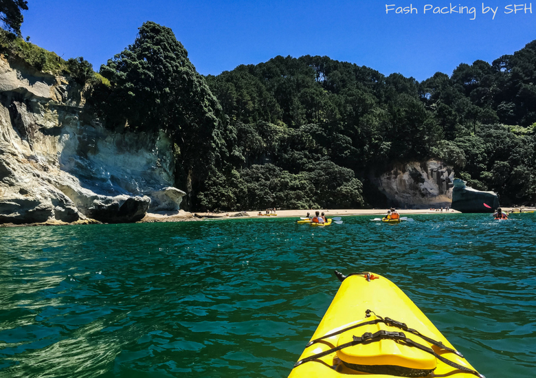 Fash Packing by SFH: Cathedral Cove Kayak Tours - Kayak Front