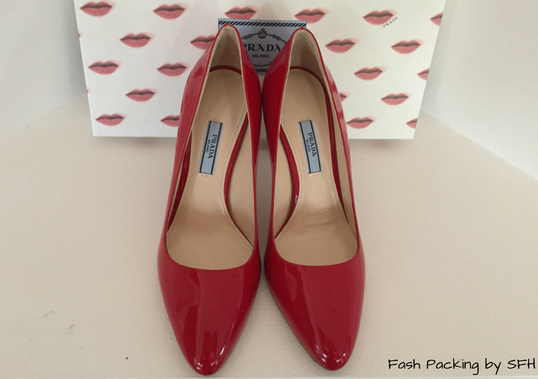 Fash Packing by SFH: Fresh Fashion Forum #60 - Custom Made Red Prada Pumps