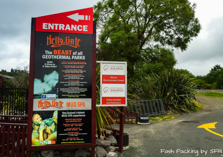 Fash Packing by SFH: Hells Gate Rotorua - Entrance