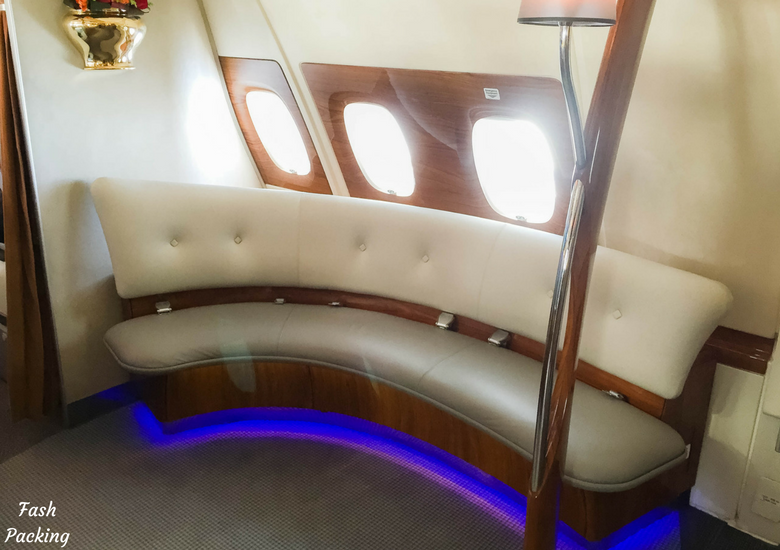 Fash Packing: Emirates A380 Business Class Review - Bar Seating