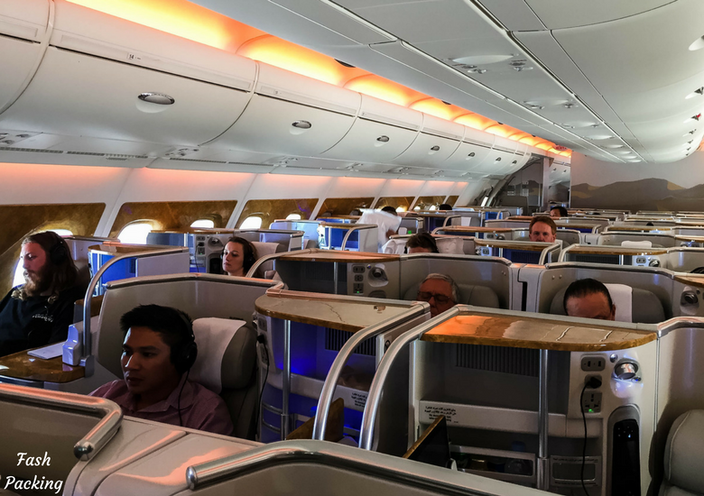 Fash Packing: Emirates A380 Business Class Review - Cabin