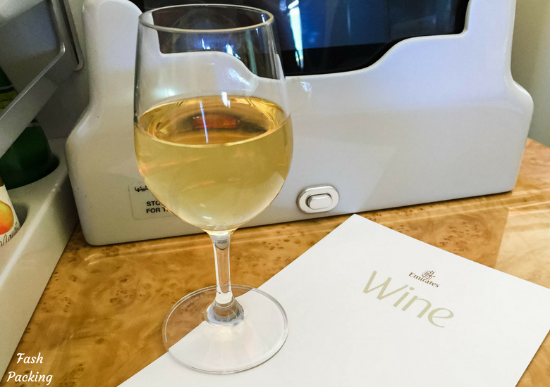 Fash Packing: Emirates A380 Business Class Review - Wine