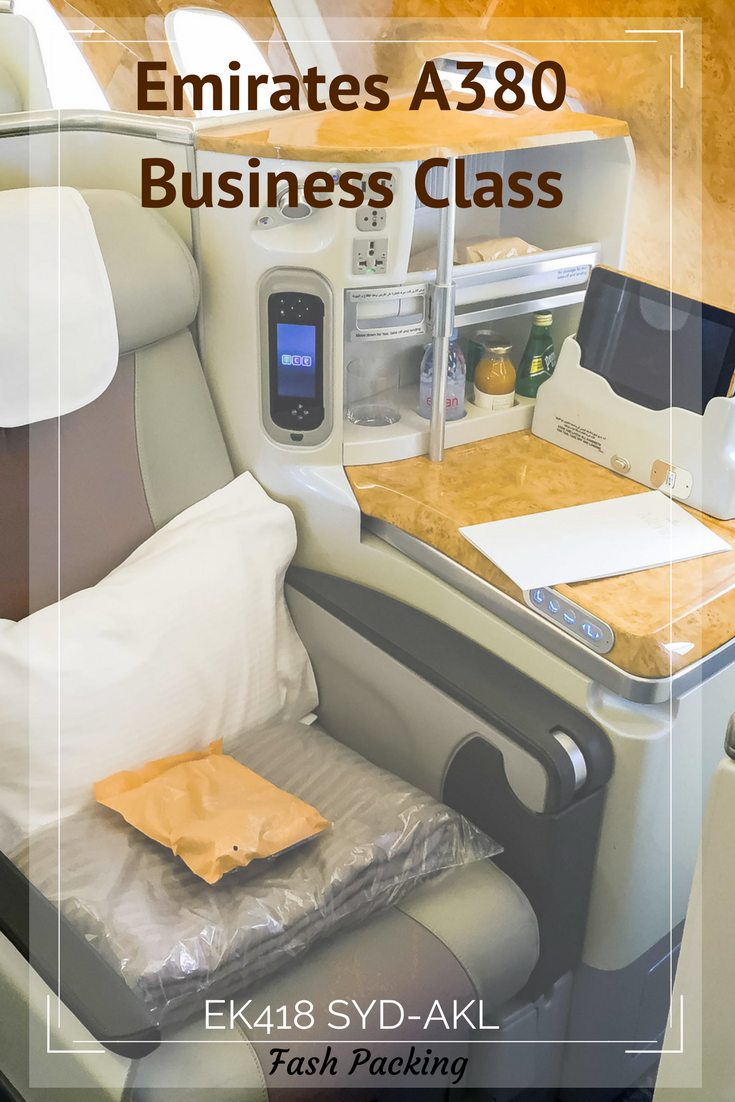 Pinterest Fash Packing: Emirates A380 Business Class Review