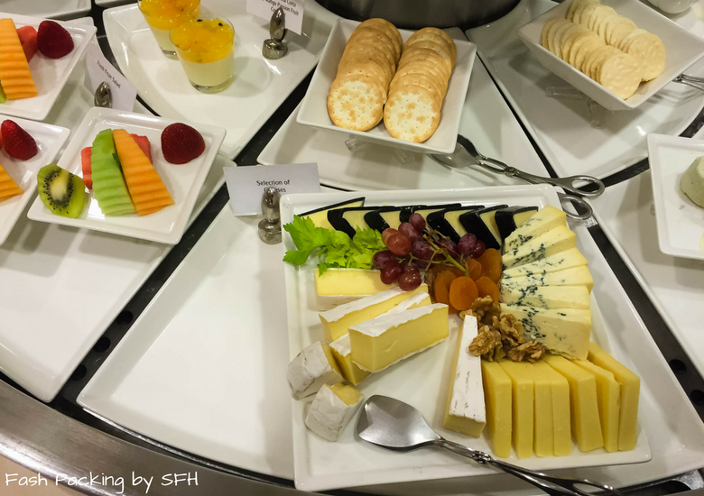 Fash Packing by SFH: Emirates A380 First Class Review - Auckland International Airport Emirates Lounge - Cheese Platter