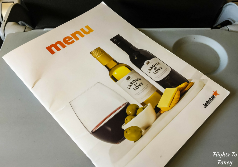 Flights To Fancy: Jetstar A320 Economy Class Review JQ745 SYD-LST - Menu