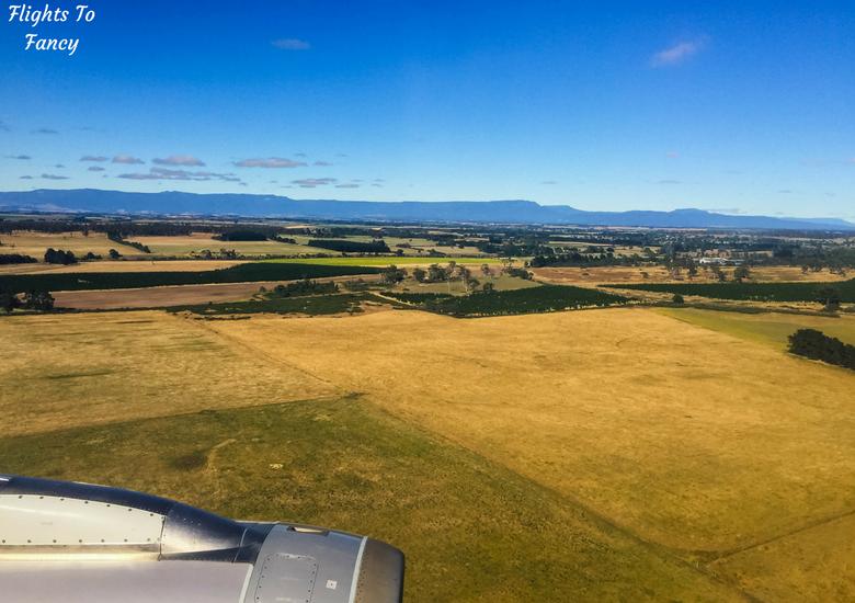 Flights To Fancy: Jetstar A320 Economy Class Review JQ745 SYD-LST - Plane Window Landing Launceston Tasmania
