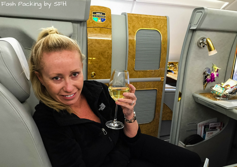 Fash Packing by SFH: Emirates A380 First Class Review EK419 Auckland - Sydney - Sampling The Wine In Emirates First Class