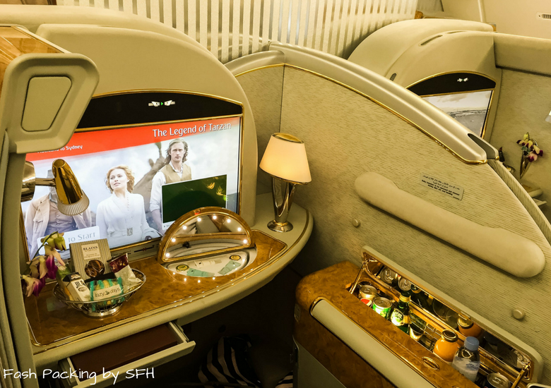 Fash Packing by SFH: Emirates A380 First Class Review EK419 Auckland to Sydney - Emirates First Class Suite