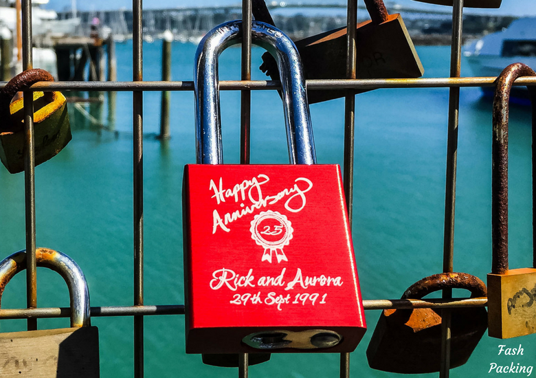 Fash Packing: A Stroll Through Auckland CBD & Viaduct Harbour - Auckland Viaduct Harbour Love Lock