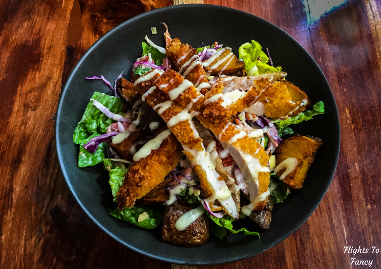 Flights To Fancy: A Rainy Day In Spectacular Cataract Gorge Launceston - Hog's Breath Cafe Hot Chicken Salad