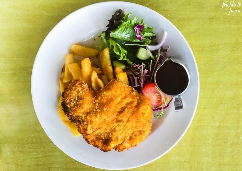 Flights To Fancy: Bicheno Tasmania Freycinet's Most Affordable Town - Beachfront Bicheno Restaurant Chicken Schnitzel