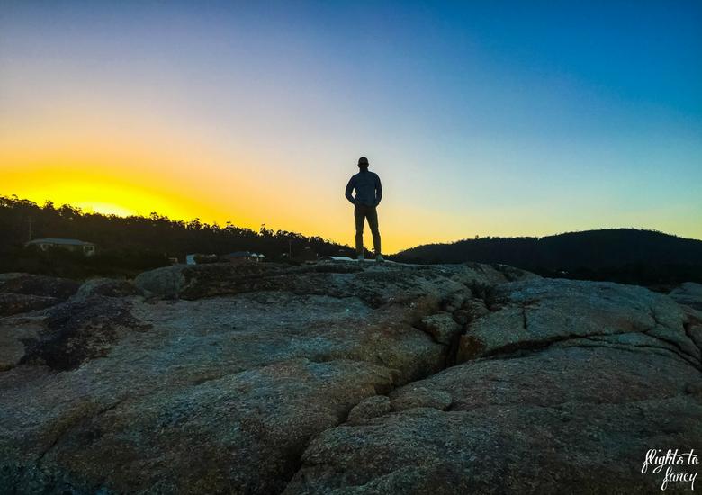 Flights To Fancy: Bicheno Tasmania Freycinet's Most Affordable Town - The Hubs Bicheno Beach at Sunset