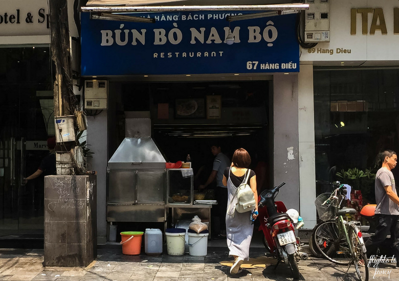 Flights To Fancy: Bun Bo Nam Bo Hanoi - Vietnamese Street Food Restaurant Exterior