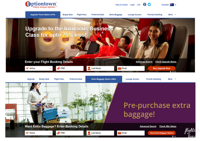 Flights To Fancy: How To Get Cut Price Airline Perks With Optiontown - Upgrade & Extra Baggage Option