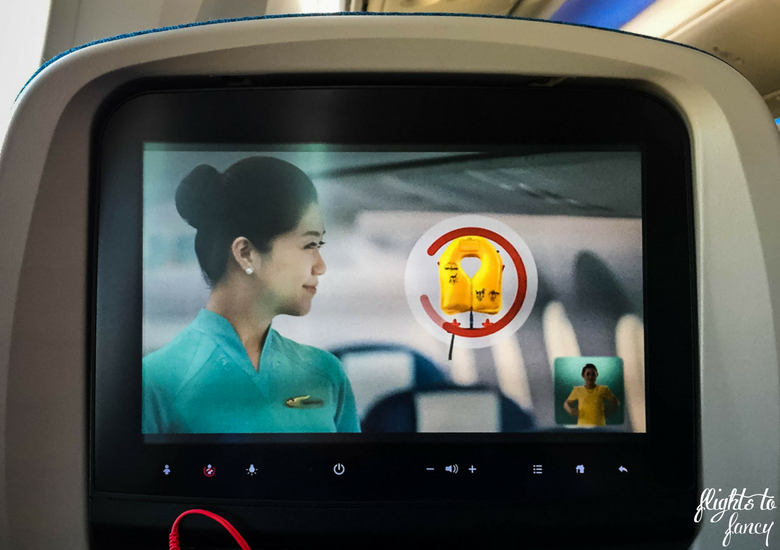 Flights To Fancy: Vietnam Airlines International Economy Review - Safety Demo