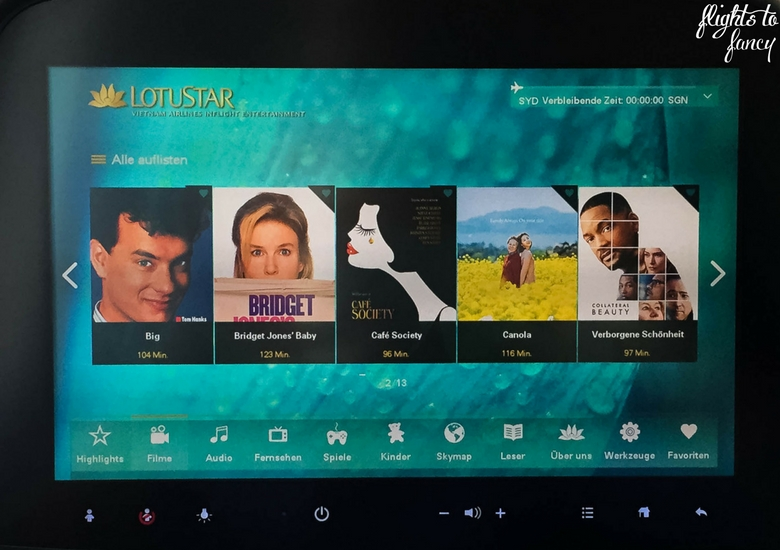 Flights To Fancy: Vietnam Airlines Review - Entertainment