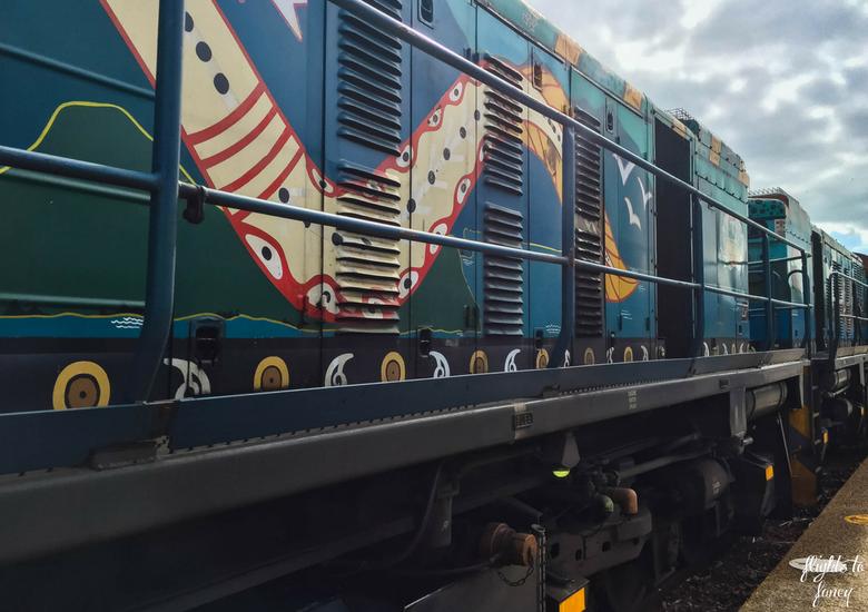 Flights To Fancy: Kuranda Scenic Railway Gold Class - Indigenous Art on Engine
