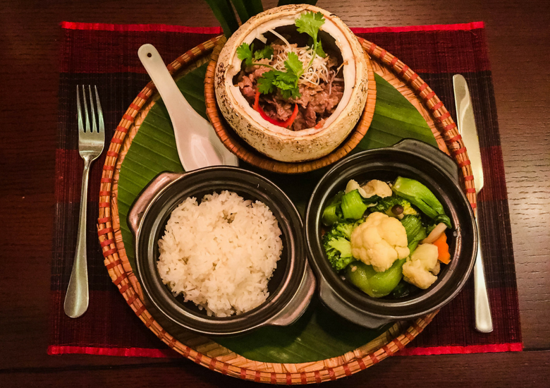 Flights To Fancy: Red Bean Restaurant Hanoi - Coconut Beef