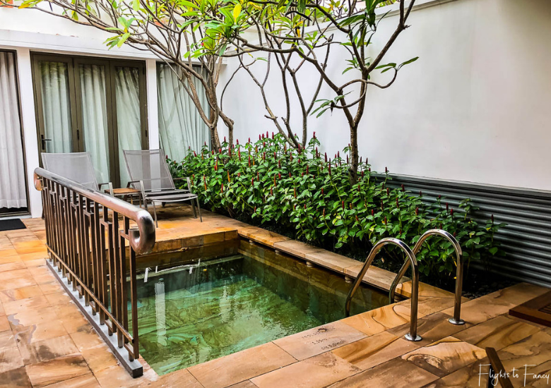 Private plunge pool at Park Hyatt Siem Reap