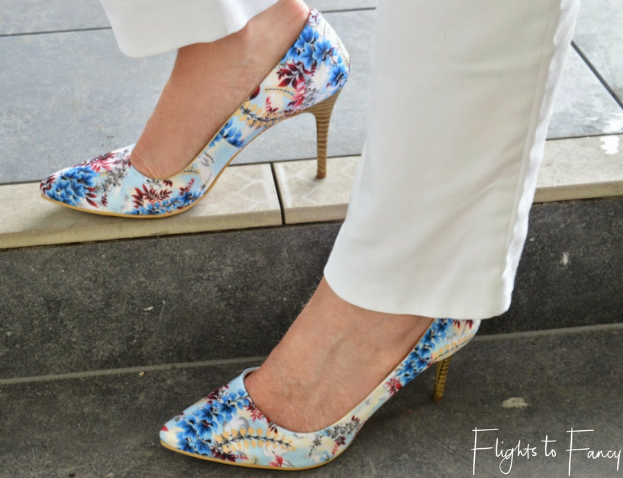 Flights To Fancy Shopping in Bali Floral Pumps From Amante Legian