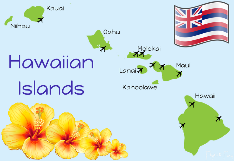 First time to Hawaii - Map of Hawaiian Islands